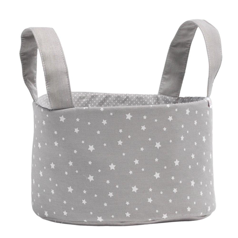 Funny Baby Stars - Cesta botellero, 33 x 17 x 17 cm, color gris 702170