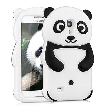kwmobile Funda compatible con Samsung Galaxy S4 Mini - Carcasa de silicona y diseño de panda - Cover trasero de móvil