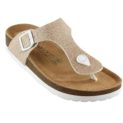 Sandale Zehentrenner Damen Biosoft Lisaf14Frauen Freizeit Schuh eHYWED9Ib2