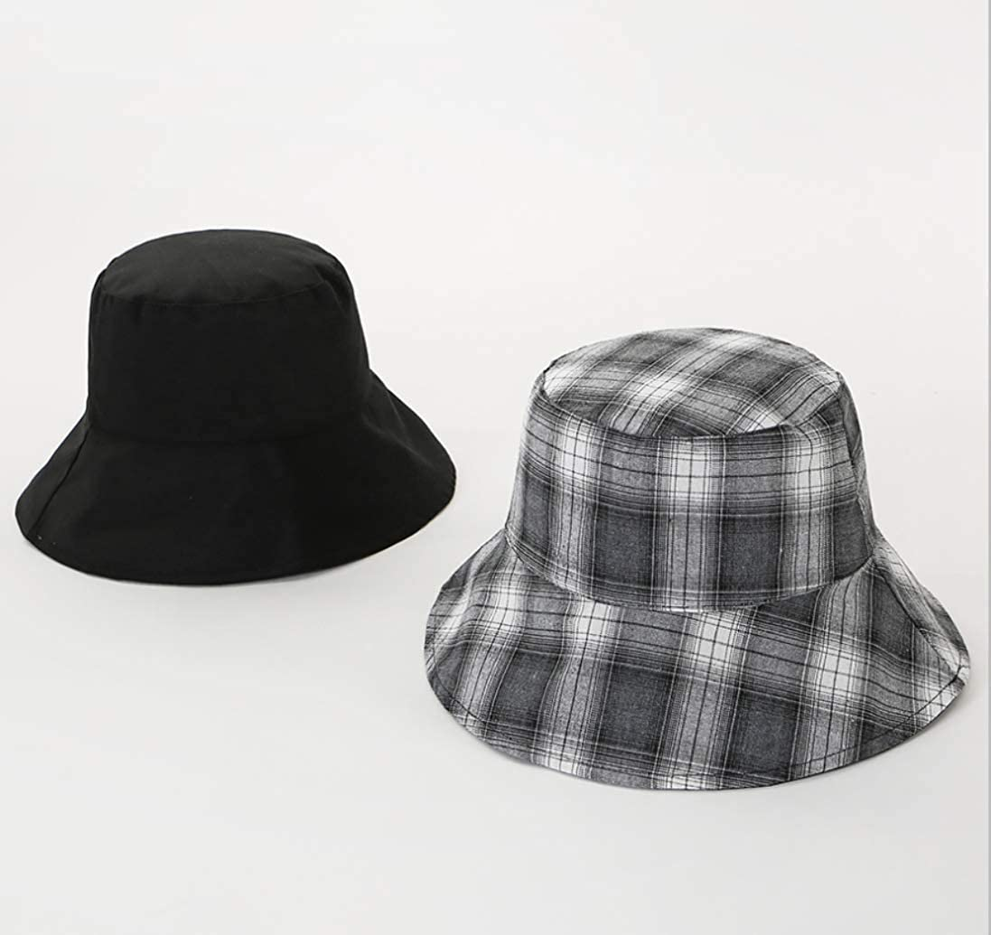 N// Reversible Fashionable Plaid Bucket Hat for Women