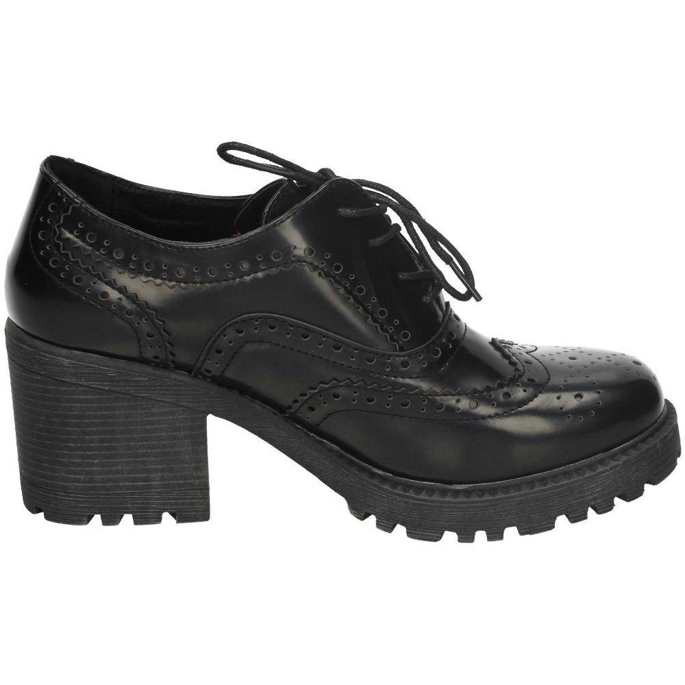 4e37e5d4e3a XTI 46093 Zapato Tipo Blucher Mujer Zapatos TACÓN Negro 41: Amazon.es:  Zapatos y complementos