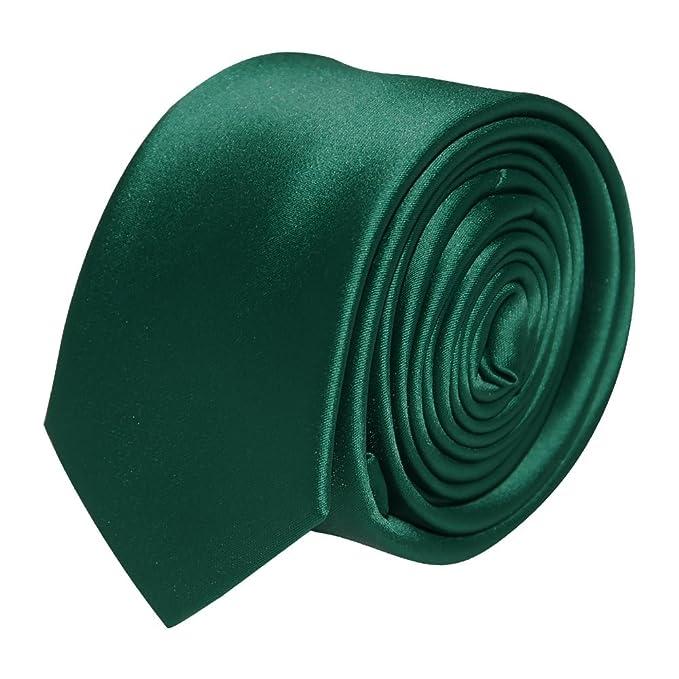 Botella de para hombre verde de pelo fino de/Slim corbata: Amazon ...