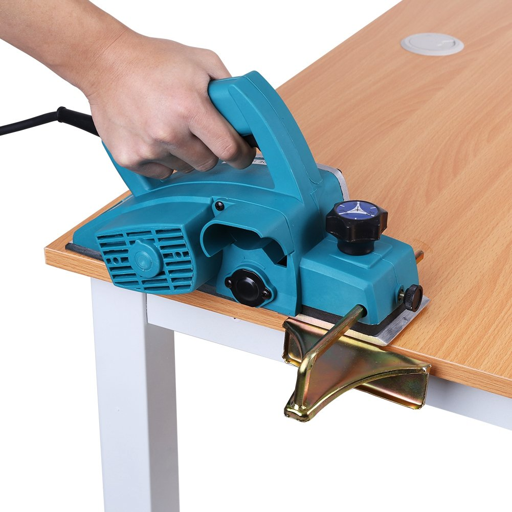 Yosoo Electric Planer Wood, 110V Portable Electric Wood Planer Hand Held Planer Woodworking Power Tool for Home Furniture