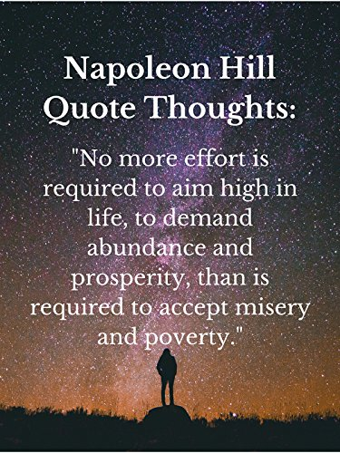 Napoleon Hill Quote Thoughts: