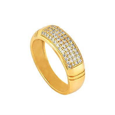 dece4c55e437fc Buy Pari Fashion Designer 18 ct. Gold Plated American Diamond Jewellery Ring  for Men Online at Low Prices in India | Amazon Jewellery Store - Amazon.in
