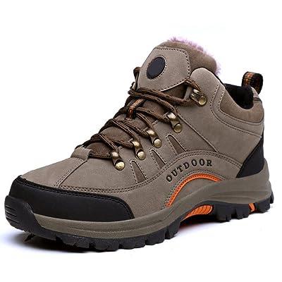 RizaBina Men Winter Trekking Boots Comfort Hiking Shoes