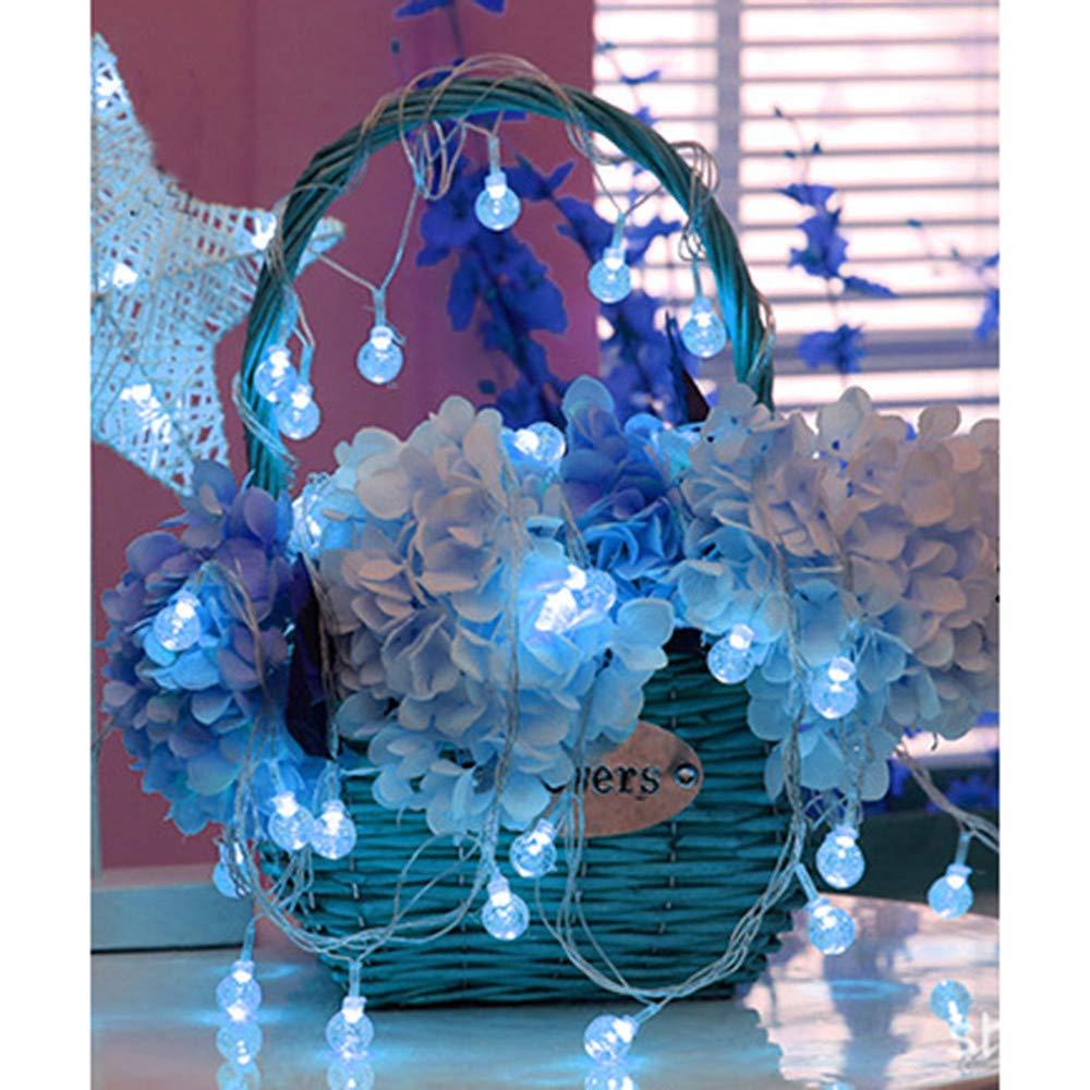 lichterkette auß en, FeiliandaJJ 3.5M 20LED Wasserdicht Kristallkugel Glü hbirne LED Licht Hochzeit Party Weihnachten Weihnachten Halloween Innen/Auß en Haus Deko String Lights 2xAA Batterie (Mehrfarbig)