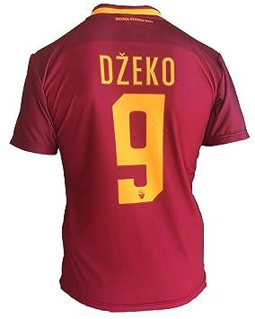 Camiseta de fútbol Roma Edin Dzeko 9, réplica autorizada, 2017 - 2018, para niños, jóvenes y hombres, Größe XLarge: Amazon.es: Deportes y aire libre