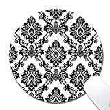 Yanteng 101 Baroque Retro personalized office desktop or gaming ergonomic medium large Cloth surface Natural rubber Round Mouse Pad for mac and windows gamer for women/men/kids