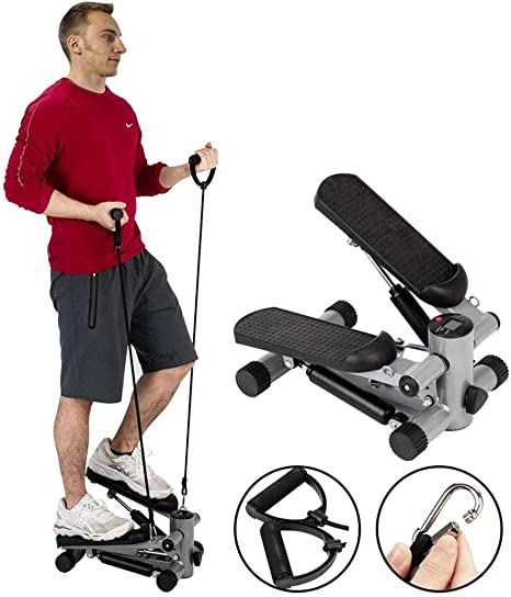 KFMJF Steppers De Escalera De Fitness para Ejercicio, Mini Máquinas Elípticas para Uso Doméstico con Bandas De Resistencia, Equipo De Ejercicio Paso A Paso, Equipo De Entrenamiento: Amazon.es: Deportes y aire libre