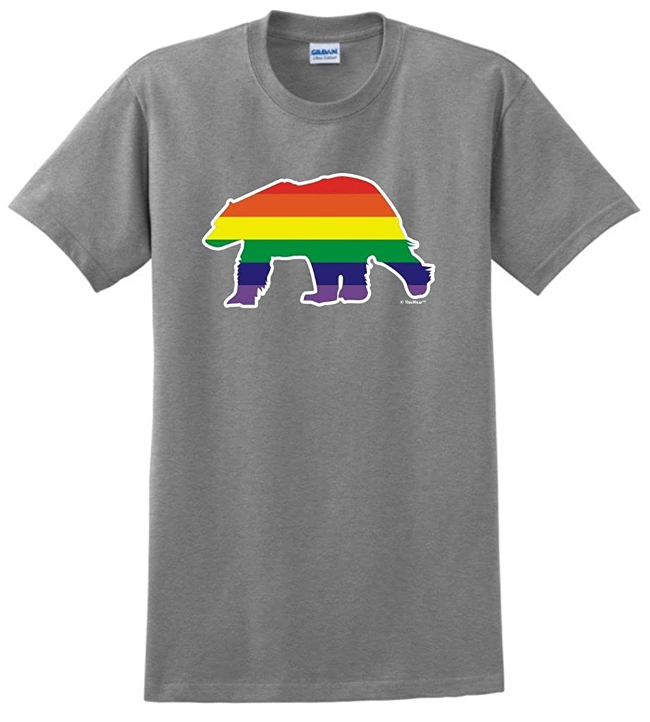 Bear Gay Pride Rainbow Flag Lgbt Tshirt