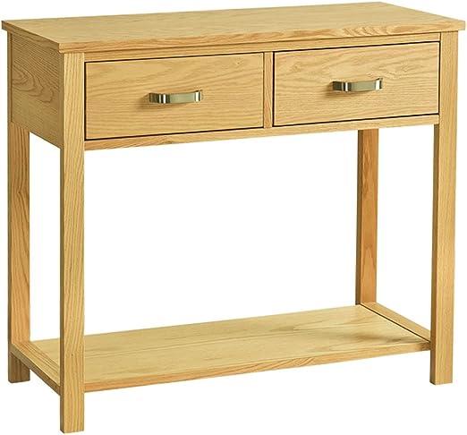 Yulie Konsolentisch Aus Holz Mit 2 Schubladen Und Regal