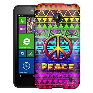 Nokia Lumia 635 Case, Slim Fit Snap On Cover by Trek Peace on Aztec Rainbow Nebula Case