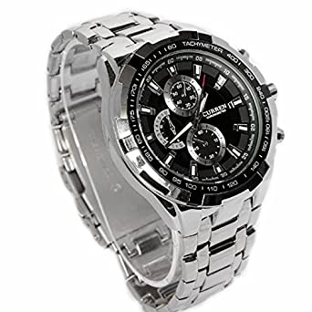 Curren 8023 Waterproof Men s Round Dial Quartz Wrist Watch with Stainless  Steel Band a7466316c91