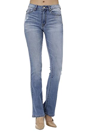 KAN CAN Women s High Rise Bootcut Jeans KC7111 at Amazon Women s ... 009722d7c