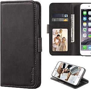 Lenovo Vibe S1 Case, Leather Wallet Case with Cash & Card Slots Soft TPU Back Cover Magnet Flip Case for Lenovo Vibe S1 (Black)