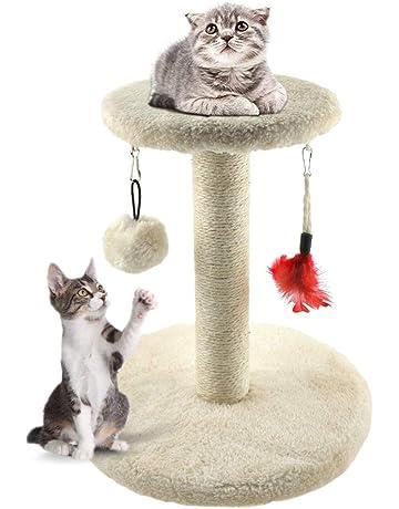 Zubita Rascadores para Gatos, Árbol para Gatos Arañazo Gatos Juguetes de Sisal Natural, Cat