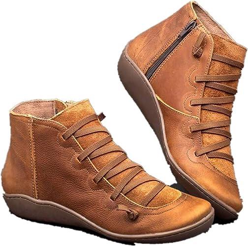 DEELIN Women Ankle Boots Square Toe