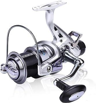Sougayilang Spinning Fishing Reel 11 + 1BB Cuerpo de Metal Liso ...