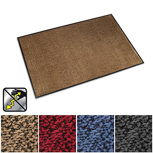 casa pura Anti-Static Entrance Mat | Indoor and Outdoor Front Door Mat | Entry Rug for Home and Business | Beige | 24
