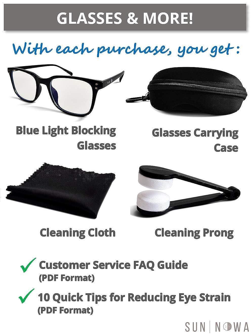 Blue Light Blocking Computer Gaming Unisex Glasses Anti UV Light TR90 Frame