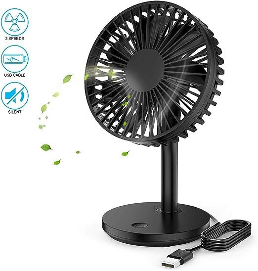 HANXIN Ventilador USB Portatil Mini Fan, Ventilador de Mesa Fan ...