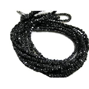 16 Inch Strand - Black Rough Diamonds - Wholesale raw Diamonds - Raw Uncut Diamond Beads - 2mm To 3mm