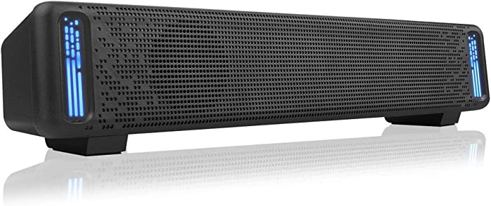 Jeecoo A50 Stereo Computer Speakers, Wired Desktop Speakers, USB Powered Computer Sound Bar for PC Laptop