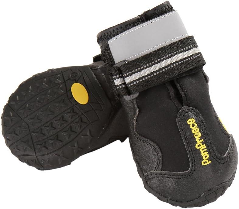 4 Unidades Zapatos Impermeables para Perros medianos y Grandes con Velcro Reflectante Onemore Choice