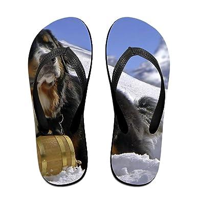 Couple Flip Flops Labrador Dog Print Chic Sandals Slipper Rubber Non-Slip Beach Thong Slippers