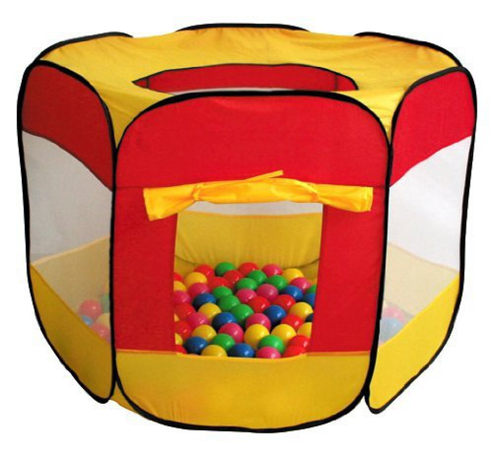 Amazon.com 100-Pit-Ball Play Tent Popup Hexagon Mesh Kids House Twist Pool by i play. Toys u0026 Games  sc 1 st  Amazon.com & Amazon.com: 100-Pit-Ball Play Tent Popup Hexagon Mesh Kids House ...