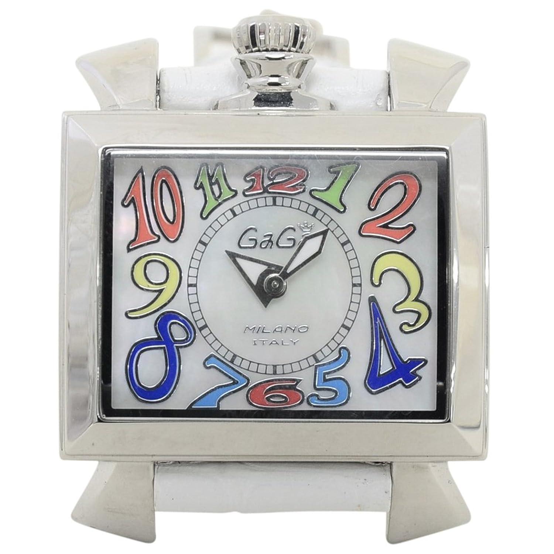 (ガガミラノ)GaGa MILANO ガガミラノ 腕時計 ナポレオーネ 40mm マルチカラー 6030.1 レディース ユニセックスサイズ クオーツ ホワイトシェル [並行輸入品] B00F9RJNWA