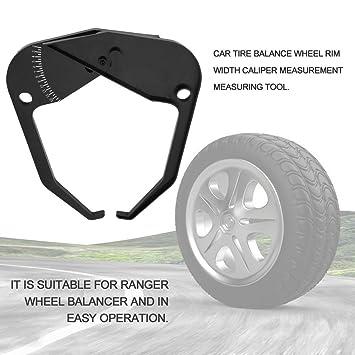 Balance Instrument Ranger Rueda Balanceador de llanta Medidor de ancho de la llanta Herramienta de medición (Color negro): Amazon.es: Coche y moto