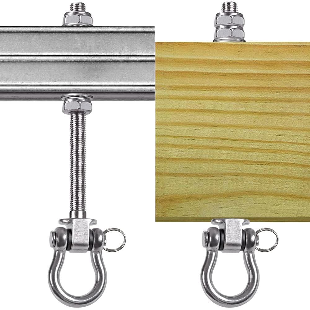 Wood Beam /& I-Beam Hanger 1800LB Capacity Hardware Swing Sets Yoga Hammock Chair Sandbag BeneLabel Set of 2 Permanent Antirust Stainless Steel 304 Heavy Duty Swing Hangers 9.25 180/° Swing