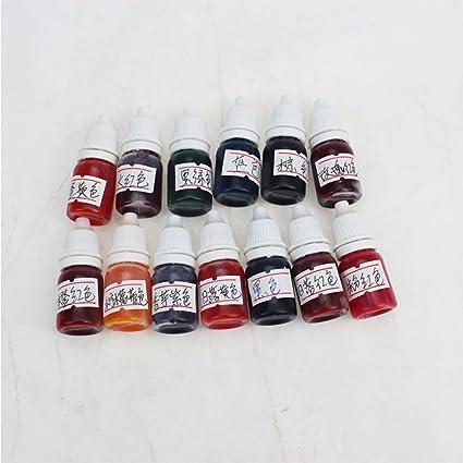 LanLan, Colorante alimentario, pintura y tinte, doble uso para comida y pigmento, agente colorante de comida, jabón, tarta, 13 colores, agua y aceite