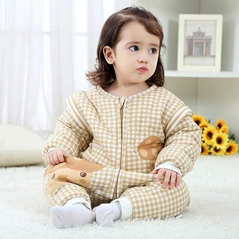 Bebé Saco De Dormir,Primavera Otoño Invierno bebé Saco de dormir desmontable de la manga del bebé del saco de dormir de algodón suave Niños Sacos de Sueño, Grueso, 80: Amazon.es: Bebé