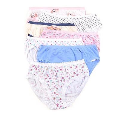 adiasen Little Girls 6 Packs Comfortable Cotton Underwear Hipster Knickers Briefs