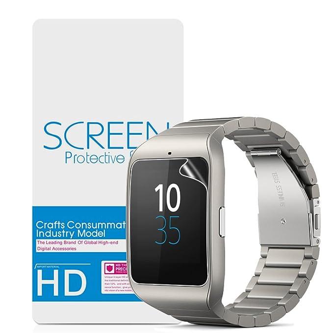 Sony Smartwatch 3 Protector de Pantalla,Vikoo Dureza 3H Alta Definición Película de La Pantalla a Prueba de Explosiones Explosion-proof Screen ...
