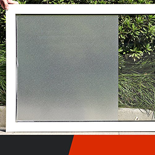 Wayward Frosted Privacy Window Film,No Glue Static Film,PVC Solid Color Heat Rejection Control Glass Decorative Bathroom Office Living Room Window Sticker-A 40x500cm(16x197inch)