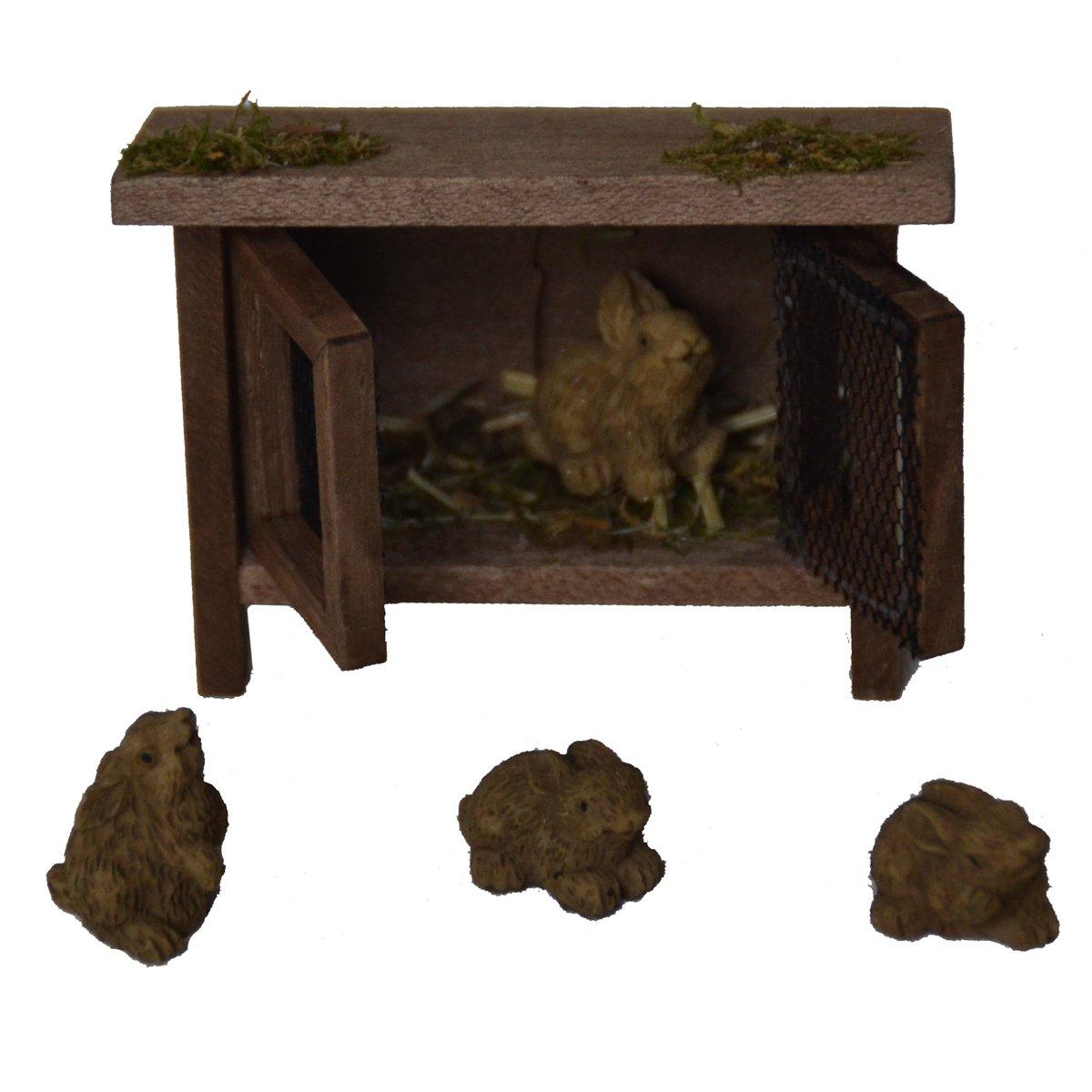 Accesorios para bel/én Alfred Kolbe Krippen AM 8 caseta con conejos, para figuras de 8-10 cm