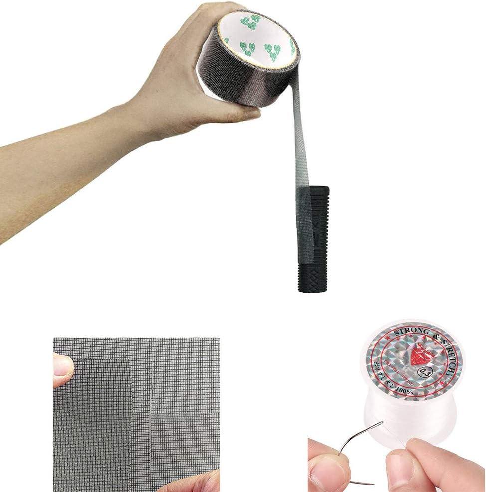 FGHB Screen Repair Tape Door Window Fly Lanai Screen Repair Patch Tape Strong Adhesive Long Lasting Fiberglass Covering Mesh Repair