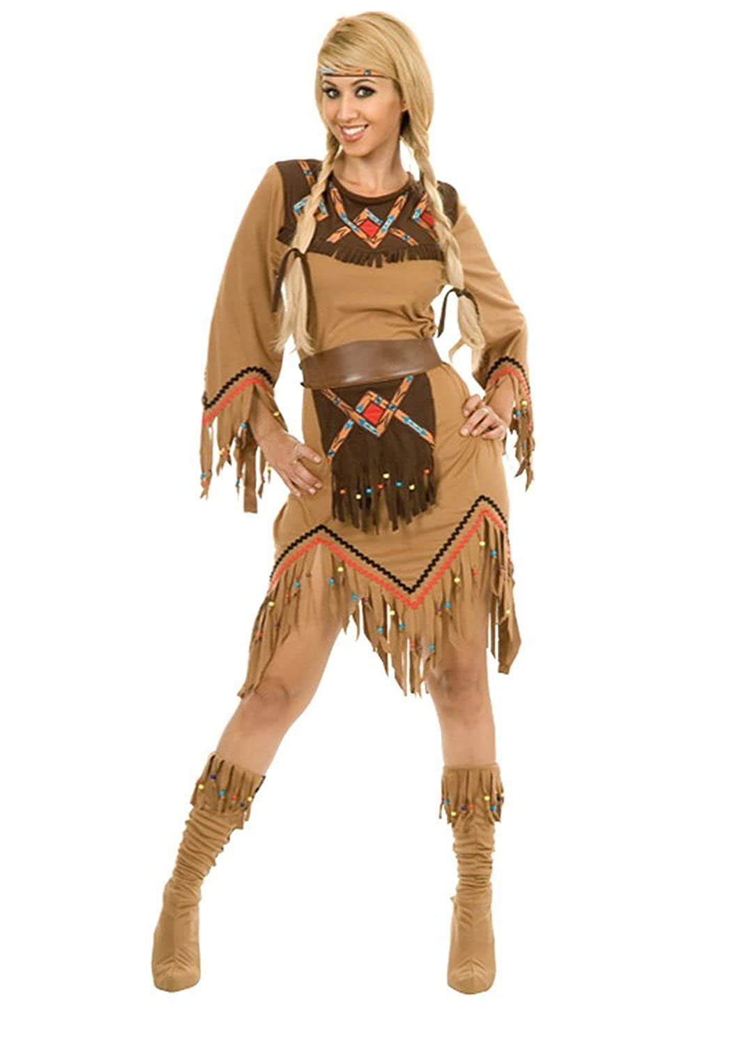 Amazon.com Charades Womenu0027s Sacajawea Indian Maiden Costume Set Clothing  sc 1 st  Amazon.com : womens indian costumes  - Germanpascual.Com