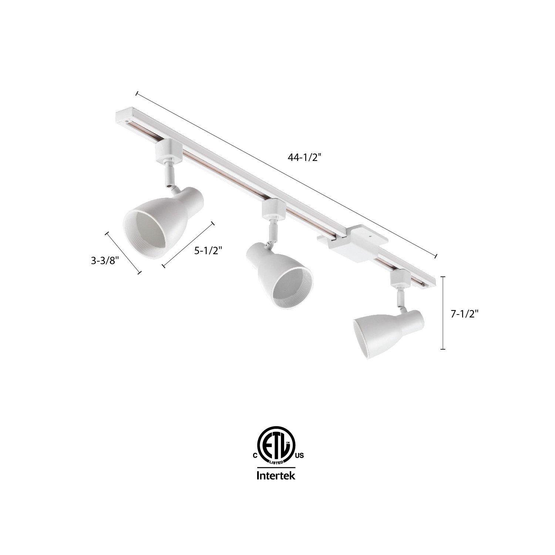 Lithonia Lighting LTKSTBF BR20 MW M4 Adjustable Decorative LED Lamp, 500 Lumens/Head, 120 Volts, 8 Watts, Dry Listed, White by Lithonia Lighting (Image #2)