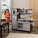 KidKraft Uptown Espresso Wooden Play Kitchen with 30-Piece Play Food Set