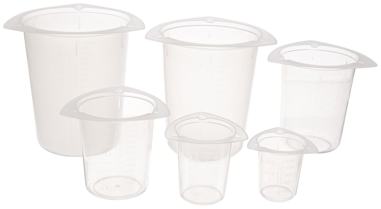 Ajax Scientific 6 Piece Polypropylene Basic Tripour Beaker Set PL012-0006G