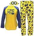 Despicable Me Minions Plush Pajama Sleep Set w/ Eyemask