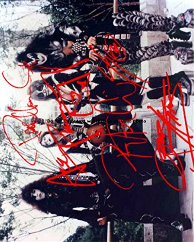 Kiss Signed Photo (Kiss Band Autographed Preprint Signed 11x14 Poster Photo)