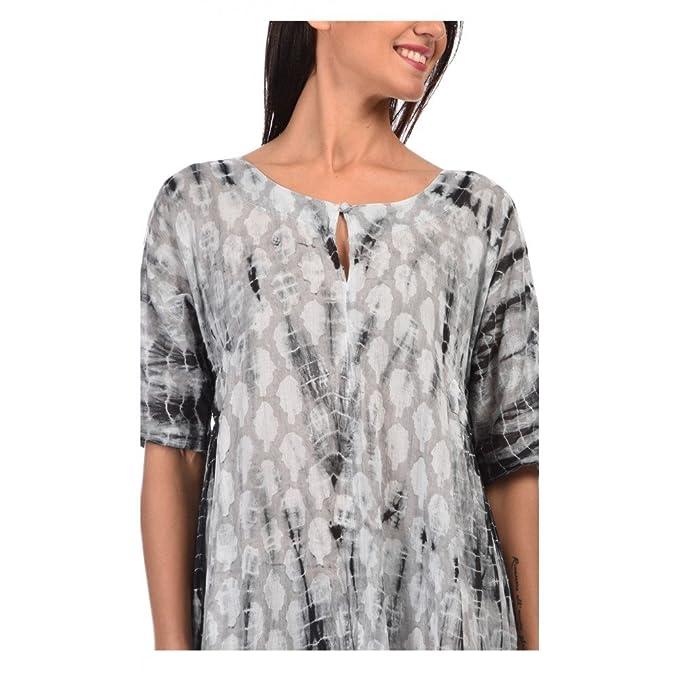 Vestidos cortos gris algodon