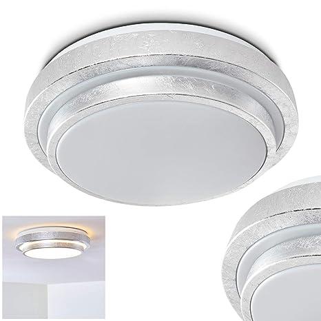 Lámpara de techo LED de diseño - plateado - Sora - para baño ...