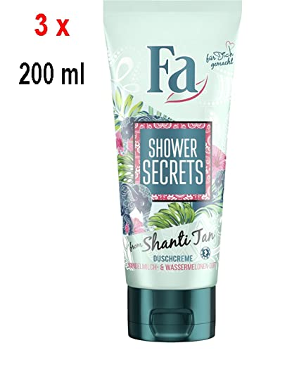 FA Women ducha Crema – Shower Secrets from Shanti Tan – Almendra Leche & Sandía –